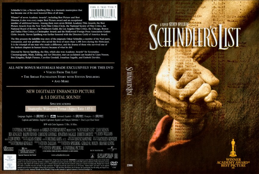 movie review of schindlers list