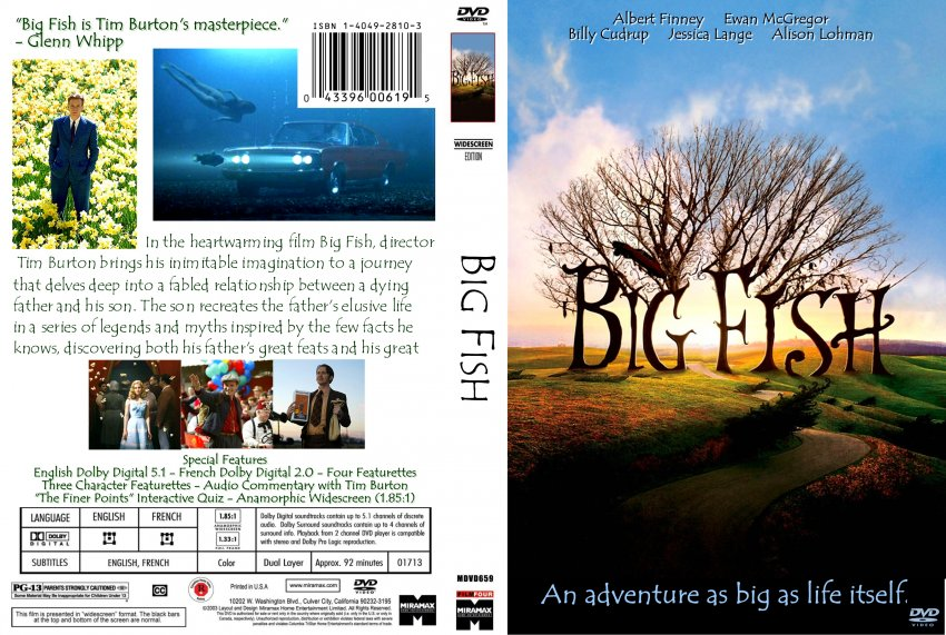 Big fish movie dvd scanned covers 242big fish finished for Big fish movie online
