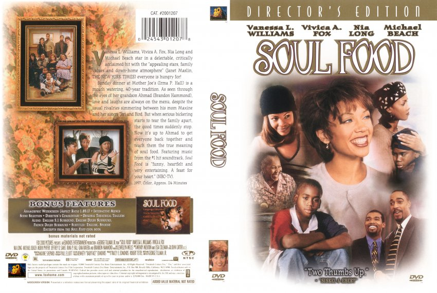 the movie soul food Watch soul food (1997) online free full movie putlocker matriarch mama joe has held her family together for 40 years around a sunday dinner of soul food when diabetes hospitalizes her, the dinners stop and tens.