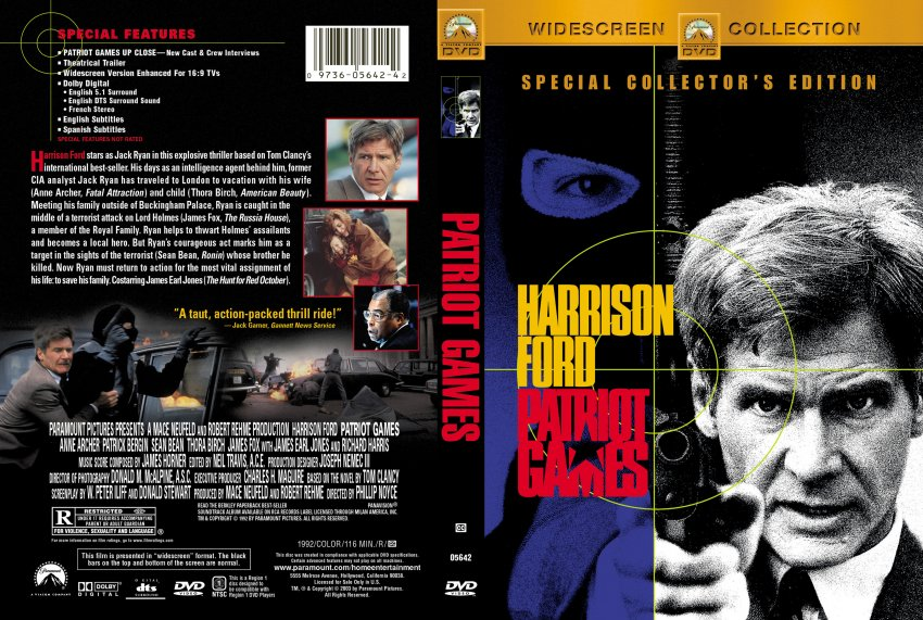 patriot games movie dvd scanned covers 262patriot
