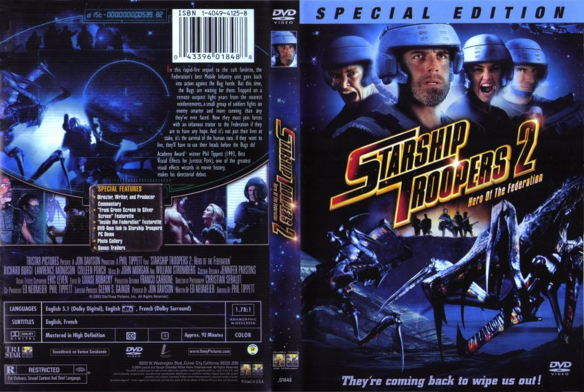 Starship Troopers 2 Scan - Movie DVD Scanned Covers ...