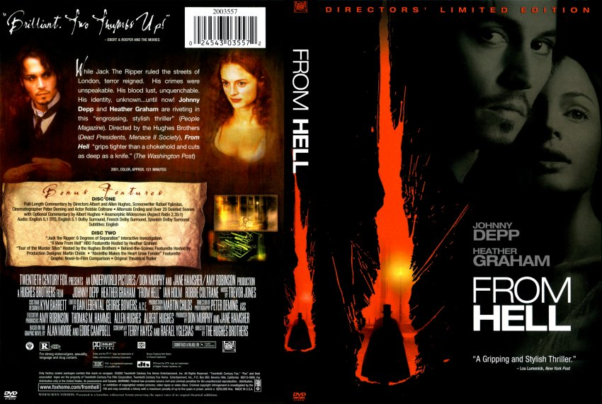 from hell - Movie DVD Scanned Covers - 267from hell :: DVD ...