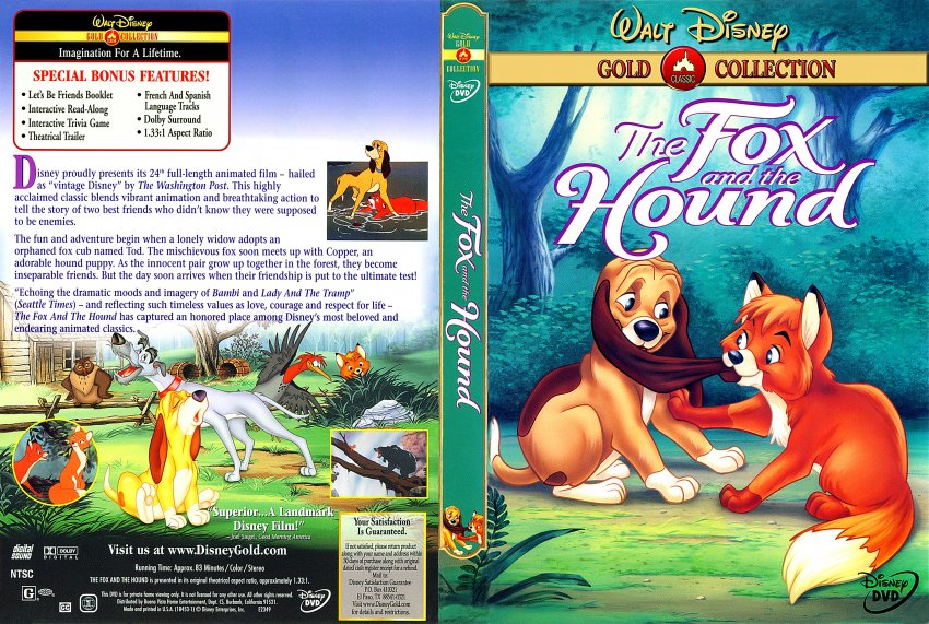 fox and the hound - Movie DVD Scanned Covers