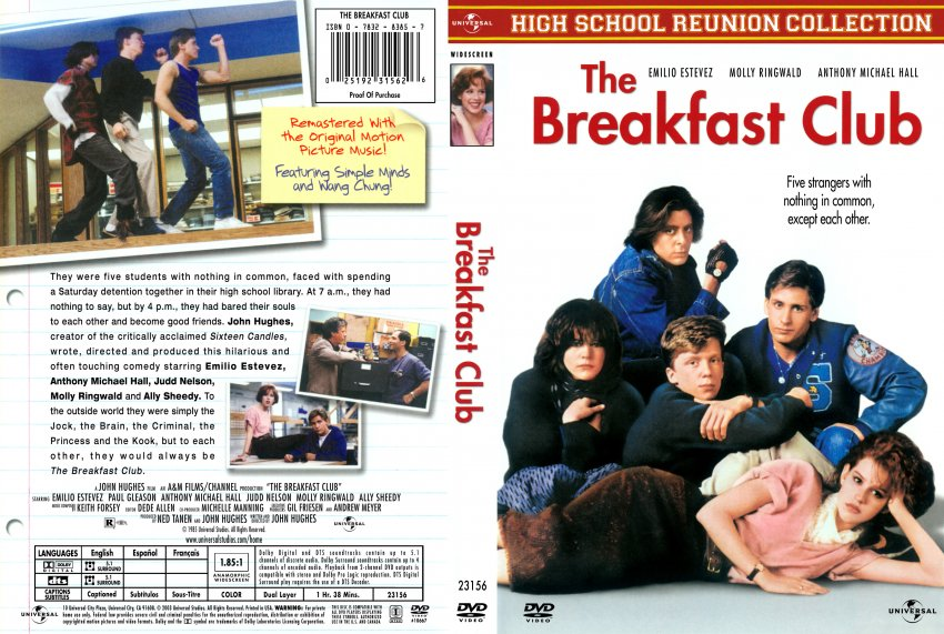 the breakfast club movie dvd scanned covers 29625the