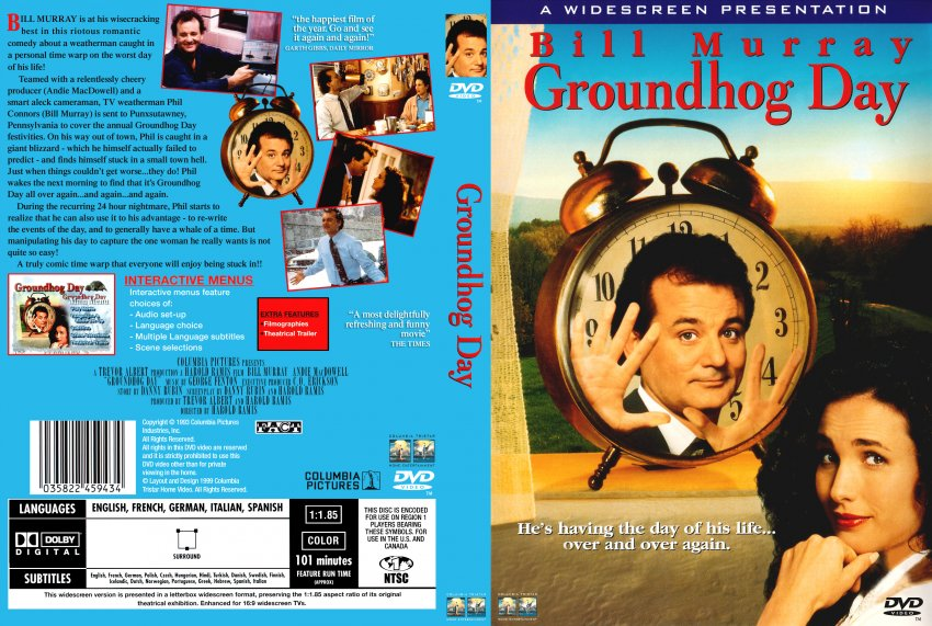 causal ditermism in the movie groundhog day For paragraph2, summarize the movie groundhog day for paragraph 3, write a thesis that presents your argument about meaning as you pit the book against the movie paragraphs 4-10 should support your thesis.
