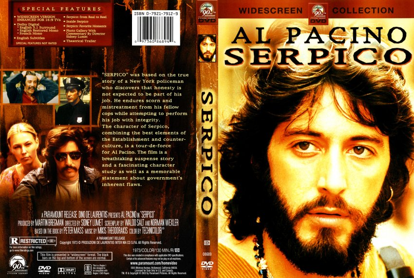 Serpico - Movie DVD Scanned Covers - 296Serpico :: DVD Covers Al Pacino