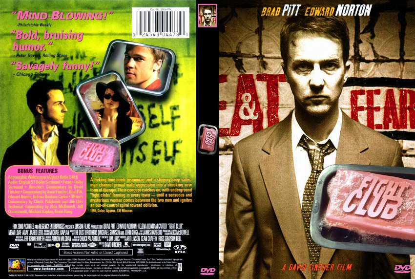 fight club dvd  Fight Club - Movie DVD Scanned Covers - 3003Fight Club :: DVD Covers