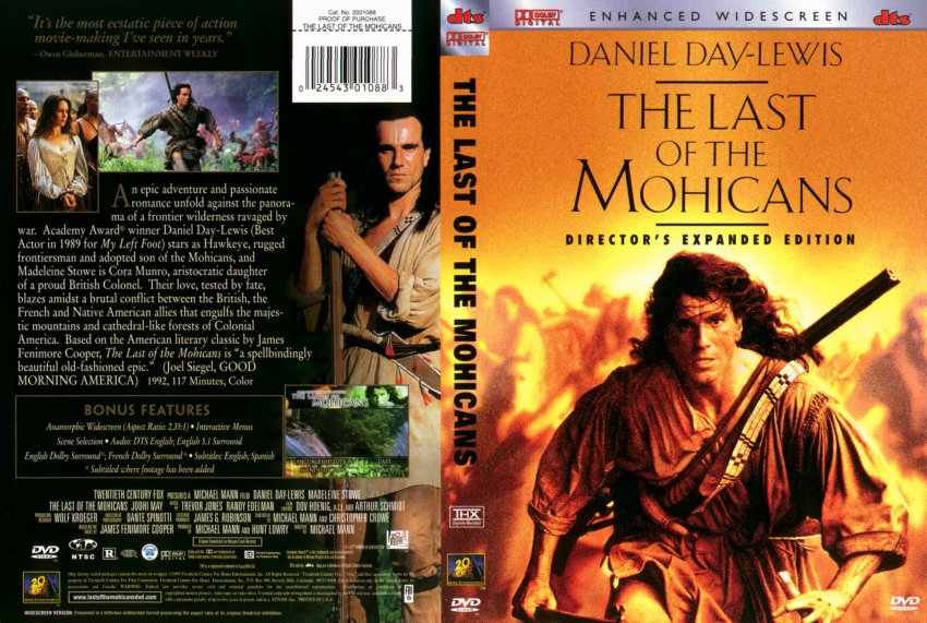 a comparison of the book and the movie in last of the mohicans Read common sense media's the last of the mohicans review, age in keeping with the book that served as its basis, this movie has a pronounced tendency toward the.