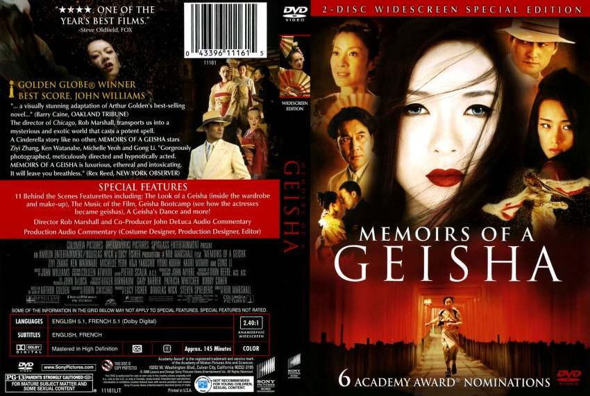 Memoir of a geisha dvd
