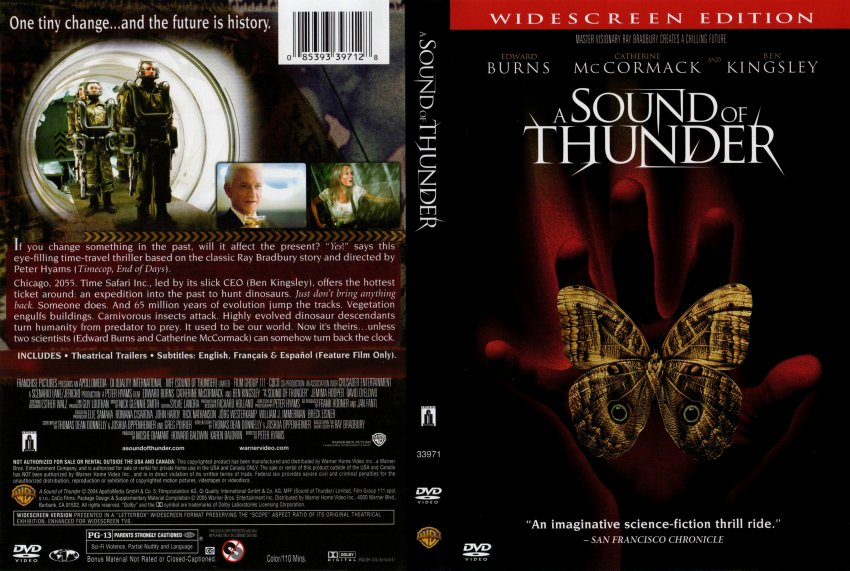 a sound of thunder dvd: