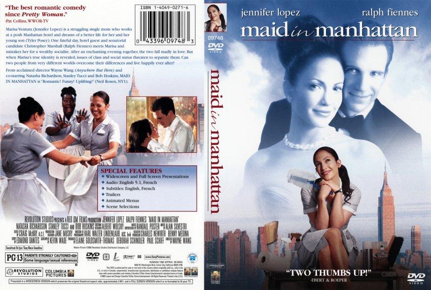 manhattan dvd  Maid in Manhattan - Movie DVD Scanned Covers - 316maid in manhattan ...