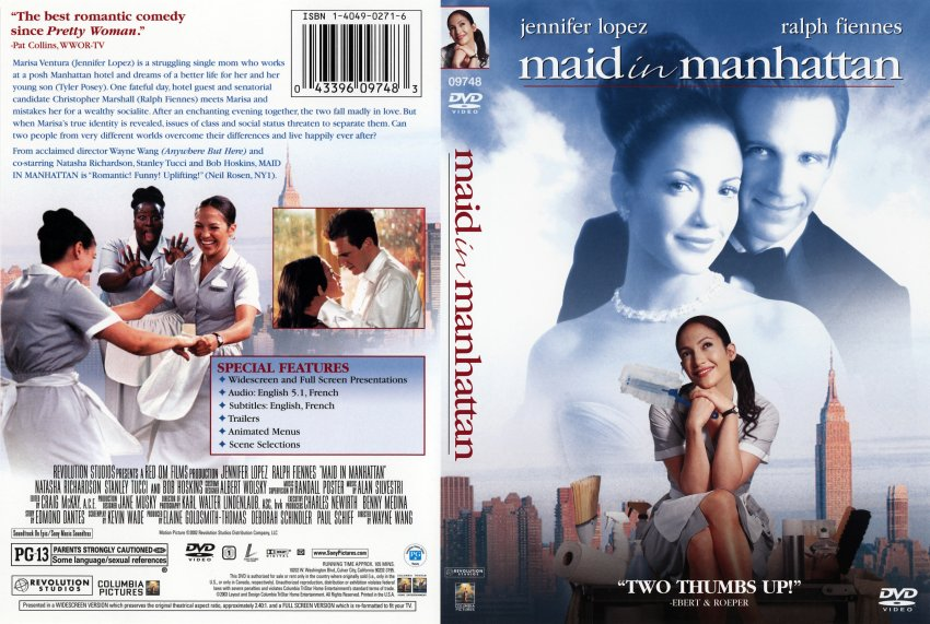 Maid in Manhattan - Movie DVD Scanned Covers - 316maid in manhattan ...