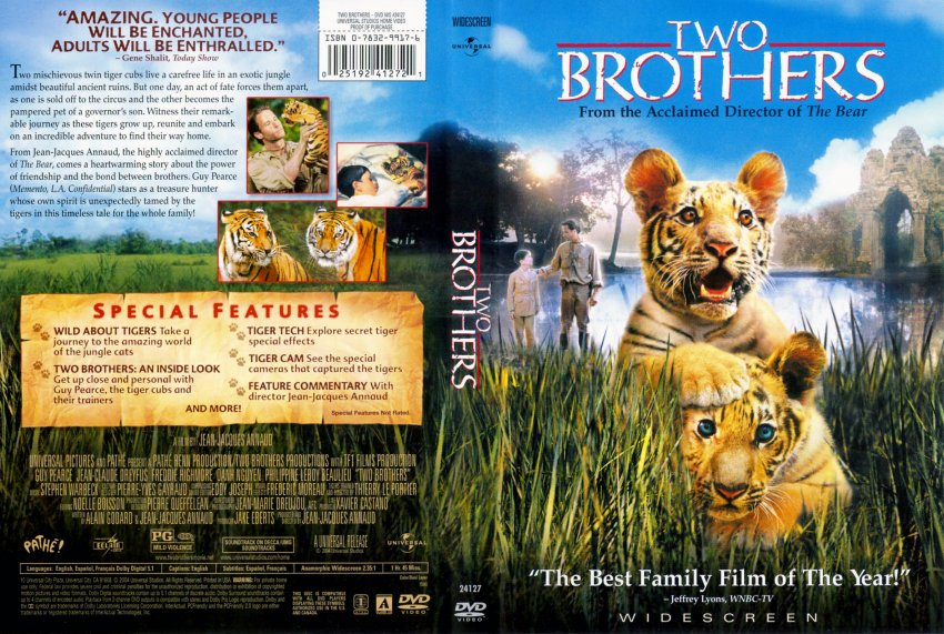 two brothers movie dvd scanned covers 333two brothers