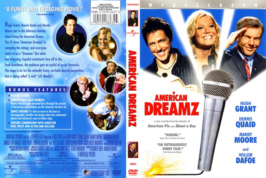 american dreamz American dreamz is a comedy, not a satire we have that on the authority of its writer-director, paul weitz, who told variety: satire is what closes on saturday night.