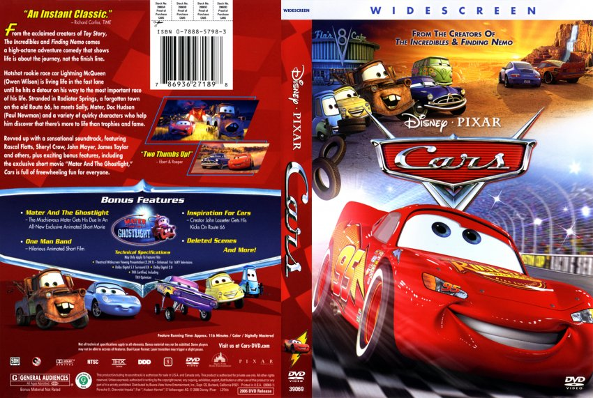 cars disney dvd 2006 widescreen the image kid has it. Black Bedroom Furniture Sets. Home Design Ideas