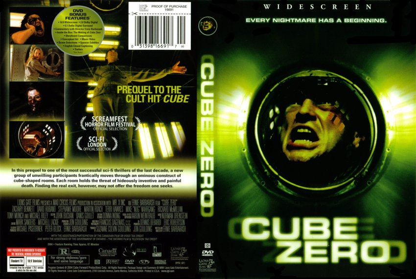 Cube Zero Movie Dvd Scanned Covers 349cube Zero Dvd Covers