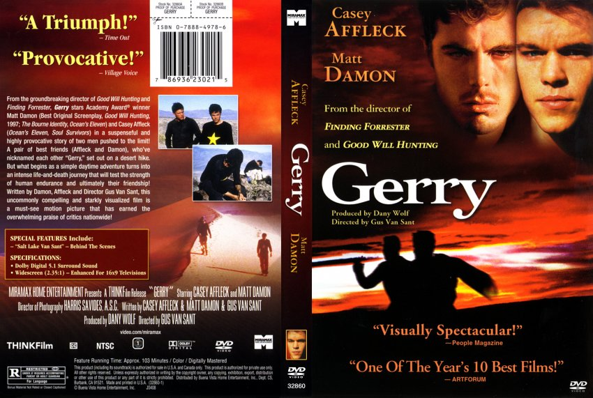 Gerry - Movie DVD Scanned Covers - 349Gerry :: DVD Covers Matt Damon