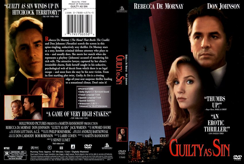 Guilty as Sin DVD-Cover