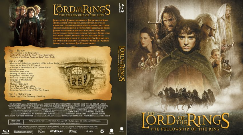 Amazon.com: Lord of the Rings: Fellowship of the Ring [Blu ...