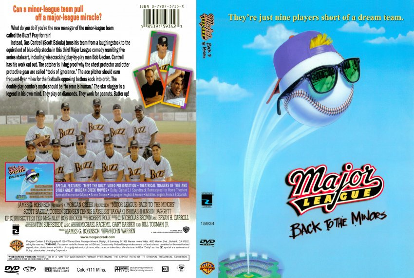 major league 3 back to the minors movie dvd scanned