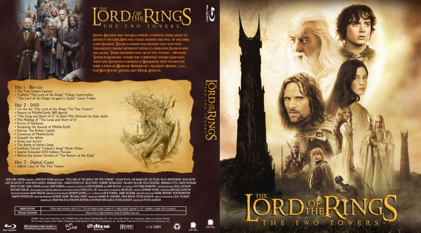The Lord Of The Rings The Two Towers - Movie Blu-Ray ...