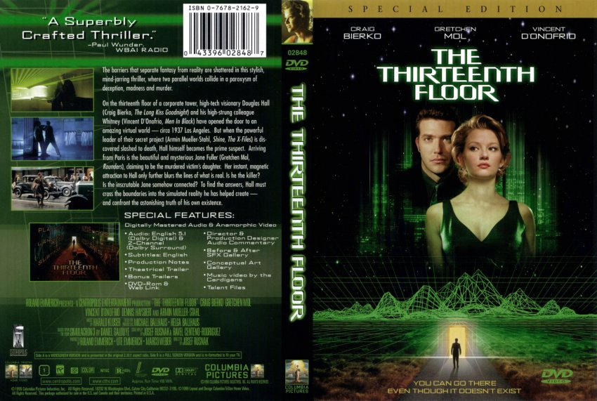 thirteenth floor the movie dvd scanned covers