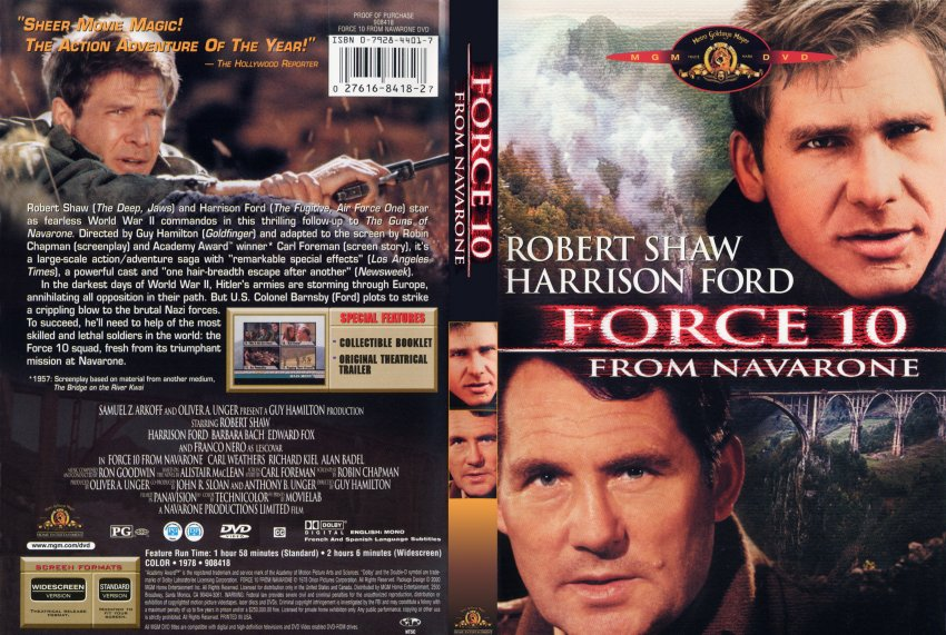 Force Ten from Navarone - Movie DVD Scanned Covers ...