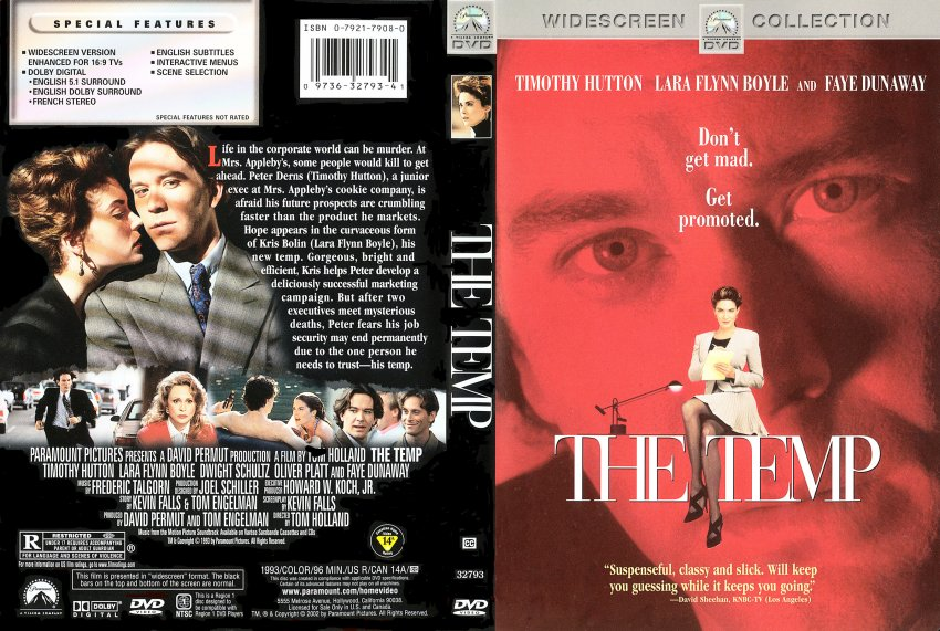 the temp movie dvd scanned covers 432the temp dvd