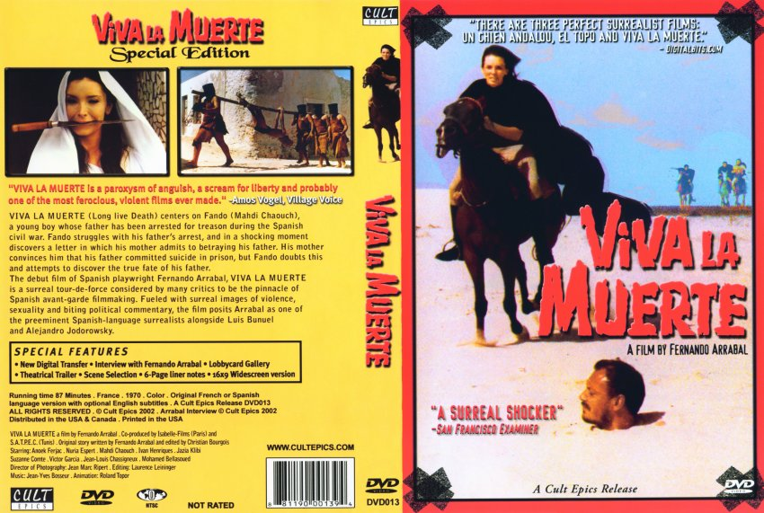 Fernando Arrabals - Viva La Muerte - Movie DVD Scanned Covers ...