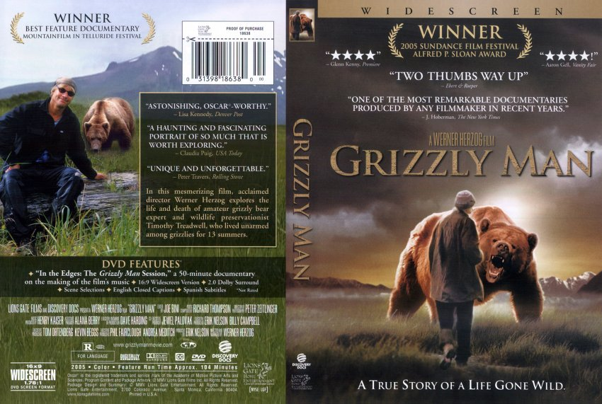 grizzly man movie dvd scanned covers 473grizzly man