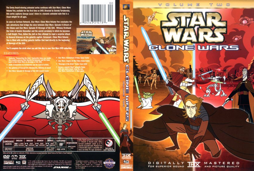 Star Wars The Clone Wars Dvd Cover Star Wars Clone Wars Vol2