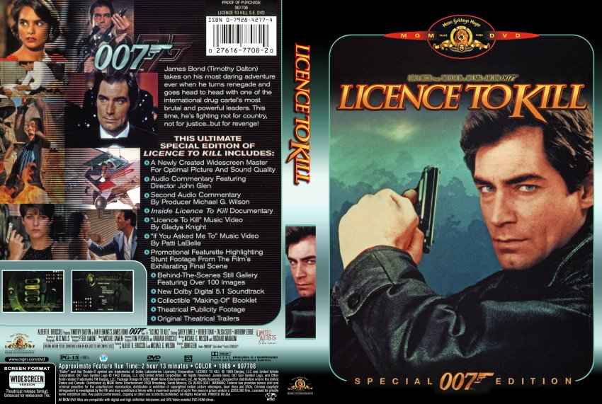 Licence To Kill - Special 007 Edition - Movie DVD Scanned ...