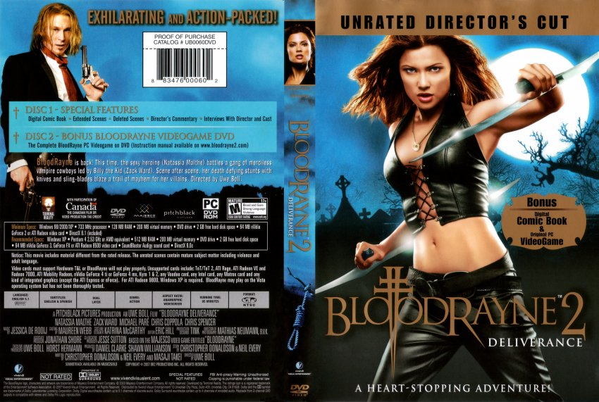 Bloodrayne 2 Deliverance Movie Dvd Scanned Covers