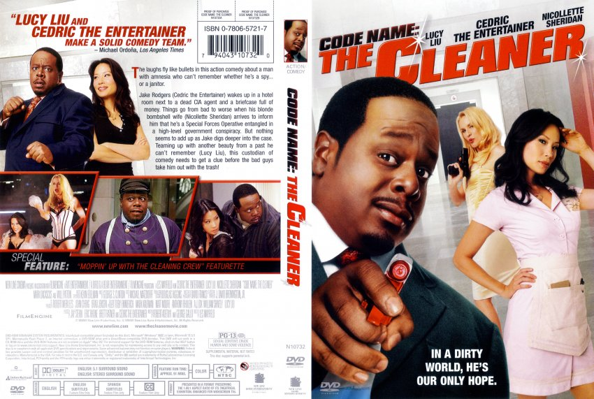 code name the cleaner movie dvd scanned covers