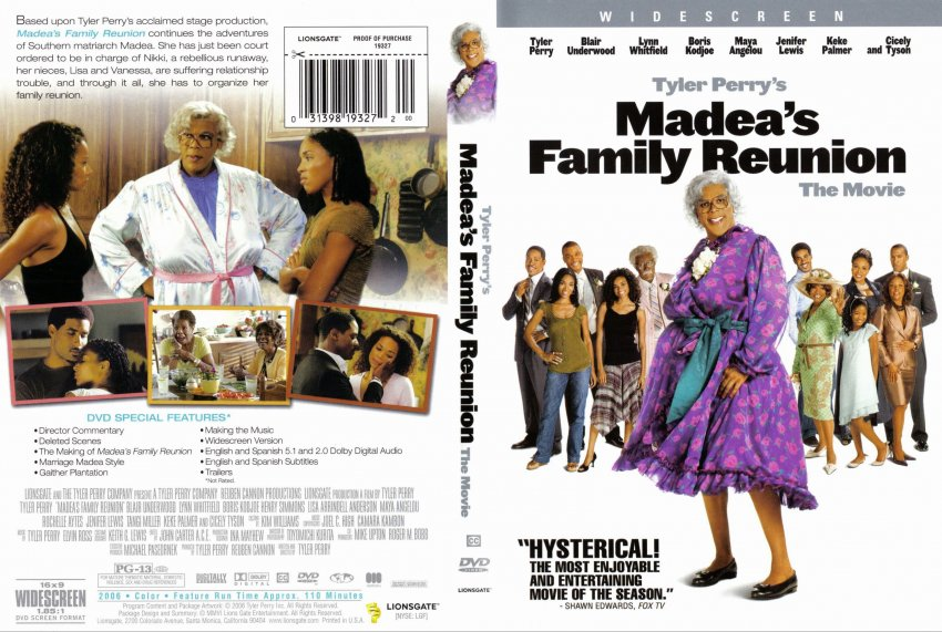 List of Synonyms and Antonyms of the Word: madea\'s family reunion