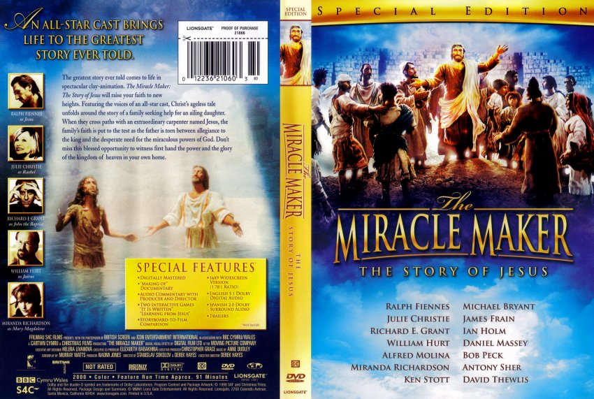 The Miracle Maker - Movie DVD Scanned Covers - 5171THE MIRACLE ...