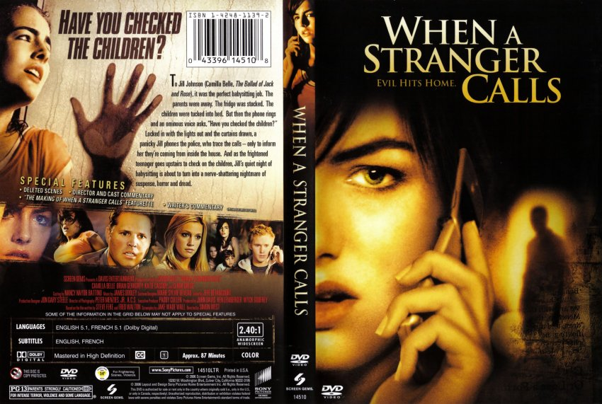 when a stranger calls movie dvd scanned covers