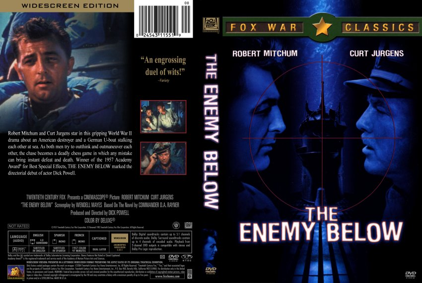 The Enemy Below - Movie DVD Scanned Covers ...