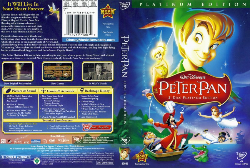 Peter Pan - 2 Disc Platinum Edition