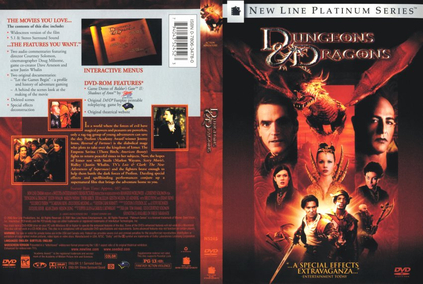 Dungeons And Dragons Scan Movie DVD Scanned Covers 56dandd