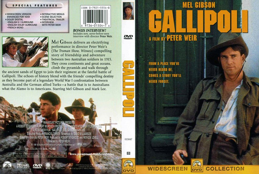 a review of the movie gallipoli Dvd review gallipoli a ending with the most unforgettable freeze-frame since the 400 blows, gallipoli remains an anti-war movie at heart.