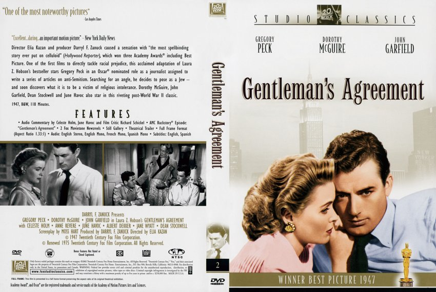 Gentlemans Agreement Scan Movie Dvd Scanned Covers