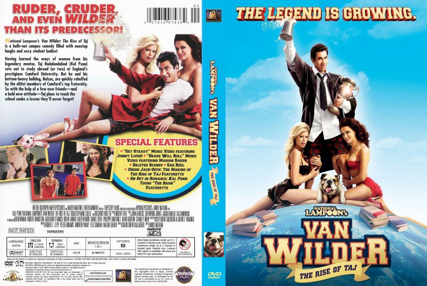 Van Wilder Rise of Taj - Movie DVD Scanned Covers - 5885TAJ ...