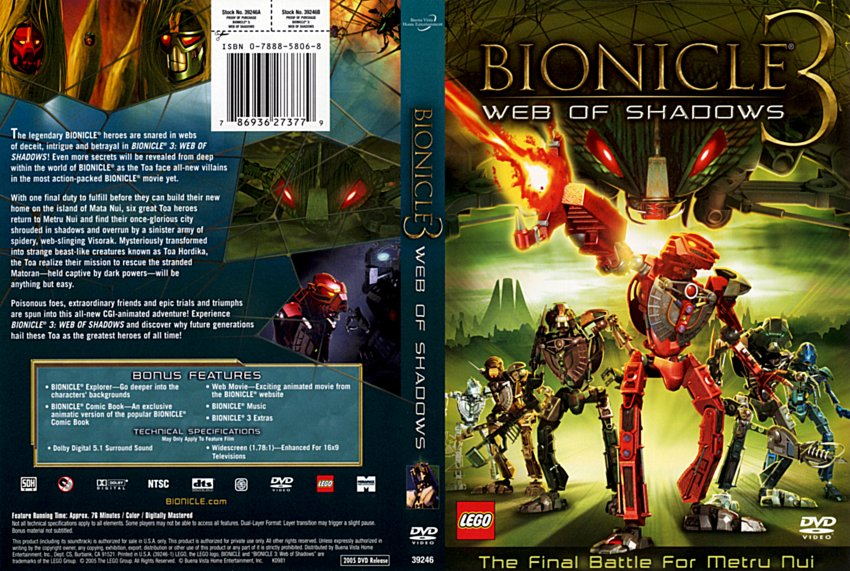 bionicle 3 movie dvd scanned covers 6024bionicle3r1
