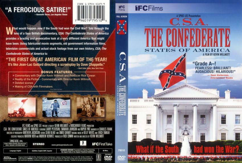 csa confederate states of america movie dvd scanned