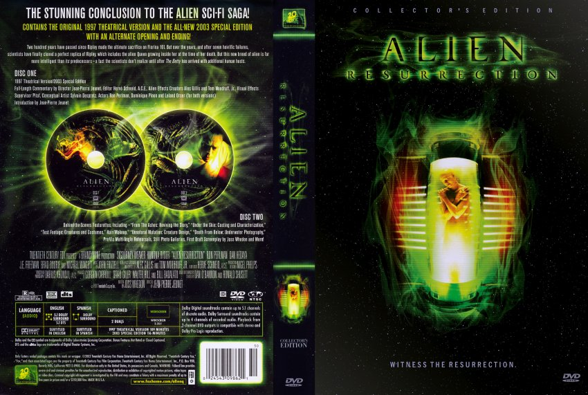 Aliens Resurection Dvd 4 Pictures to Pin on Pinterest ...