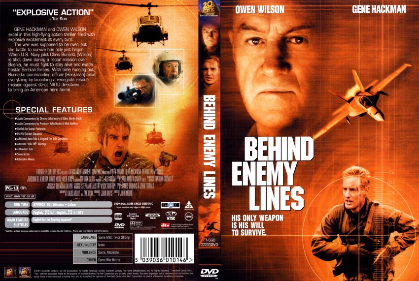 behind enemy lines - Movie DVD Scanned Covers - 7171Behind ...