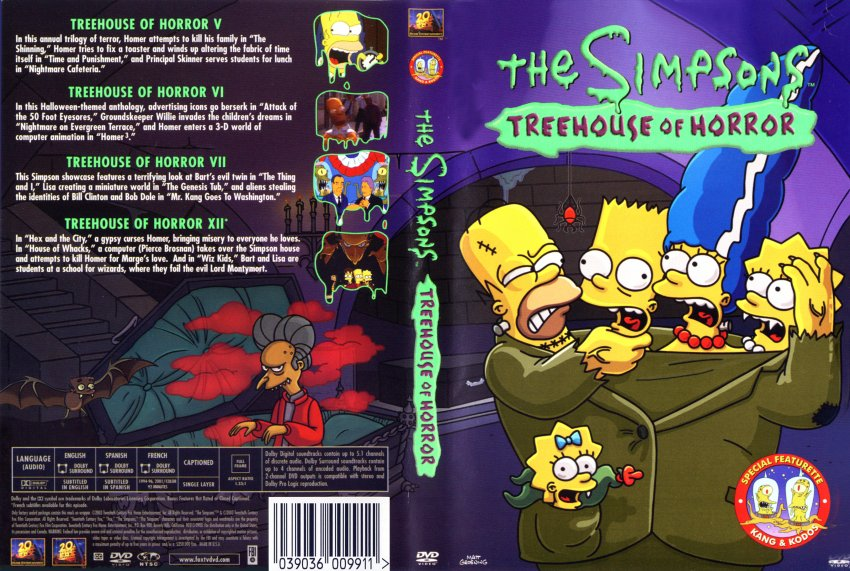 Simpsons: Treehouse of Terror - Movie DVD Scanned Covers