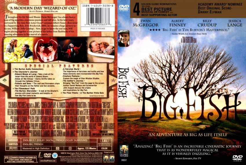 Big fish r1 scan movie dvd scanned covers 7big fish for Big fish movie online