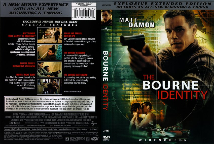 the bourne identity critical analysis After waking up on an unknown ship with bullet wounds, bourne struggles to remember anything about his identity themes: identity based very loosely on robert ludlum's novel, the bourne identity is the story of a man whose wounded body is discovered by fishermen who nurse him back to health he can remember.